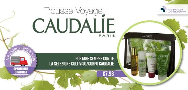 Caudalie, Trousse, Voyage, Acqua detergente, Crème Sorbet Hydratante , Olio Divina, Gel doccia Tea des Vignes